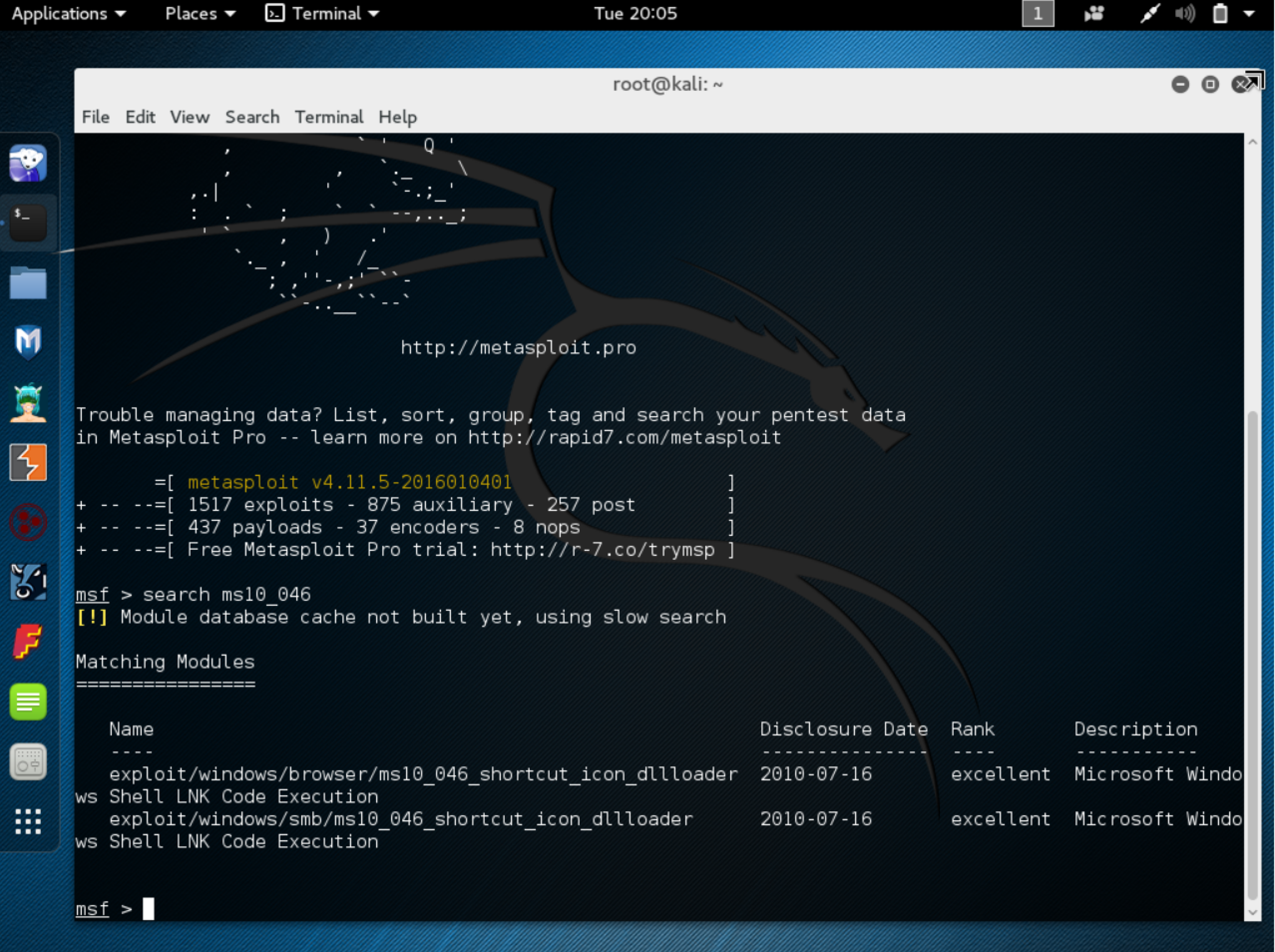 Metasploit Basics : Reverse Shell Win7